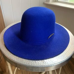 Brixton bright blue cobalt wide brim hat